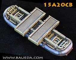 Cama Scenics (15mm WWII): Single M2 Modular Pontoon Bridge Extension