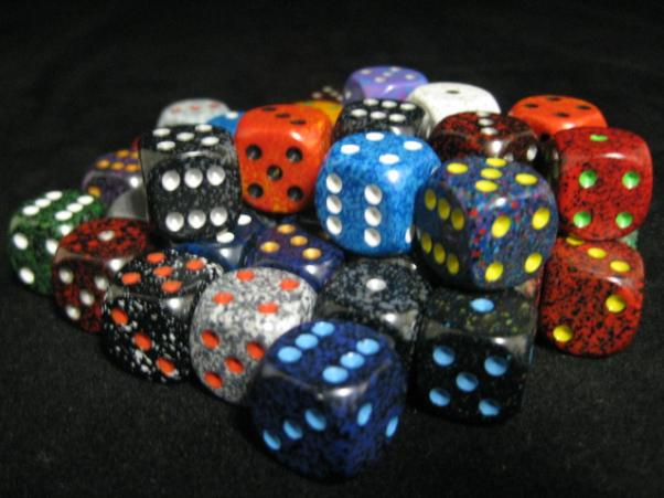 Chessex Bulk Dice Sets: Assorted Speckled 16mm d6 Bag (50)