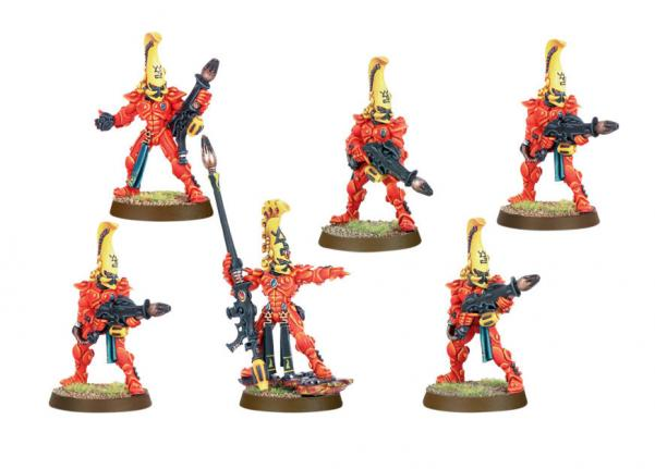 Citadel Finecast Resin: Eldar Fire Dragons