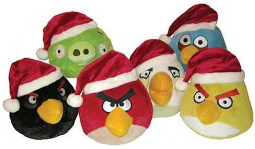 Angry Birds: Assorted 5-inch Plush Bird With X-Mas Hat - No Sound