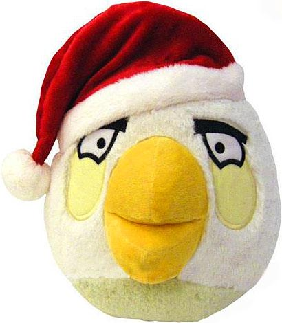 Angry Birds: Assorted 8-inch Plush Bird With X-Mas Hat - No Sound