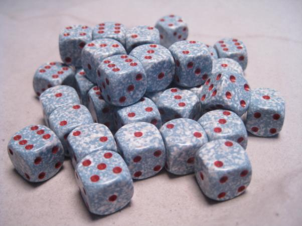 Chessex Dice Sets: Air Speckled 12mm d6 (36)