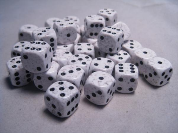 Chessex Dice Sets: Arctic Camo Speckled 12mm d6 (36)