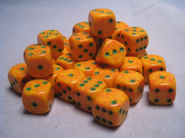 Chessex Dice Sets: Lotus Speckled 12mm d6 (36)