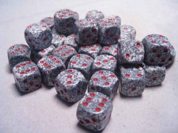Chessex Dice Sets: Granite Speckled 12mm d6 (36)