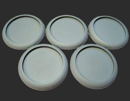 Scenic Bases: 40mm Hollow Blanks, Round Lip (5)