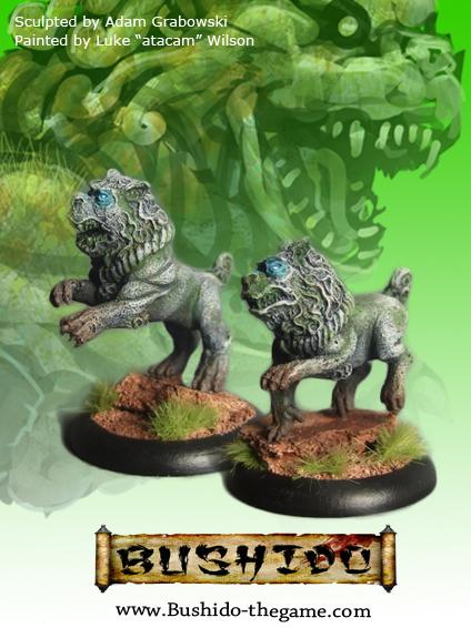 Bushido Miniatures: (Temple Of Ro-Kan) Shisa (2)