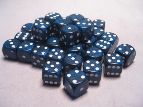 Chessex Dice Sets: Stealth Speckled 12mm d6 (36)
