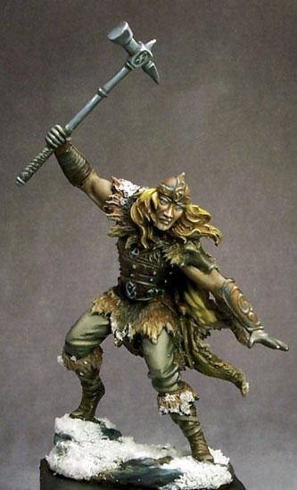 Visions In Fantasy: Male Barbarian w/Warhammer