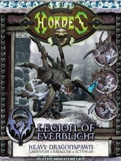 Hordes: (Legion Of Everblight) Carnivean/Ravagore/Scythean Heavy Dragonspawn Kit (plastic)