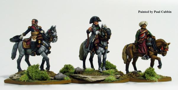 (French) Napoleon & Staff (Mounted)