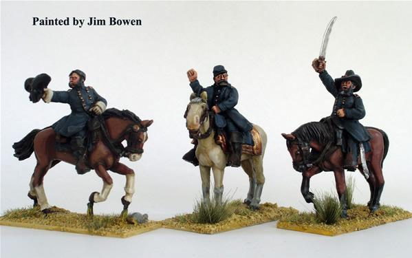 28mm American Civil War: (Union) Generals (Mounted)