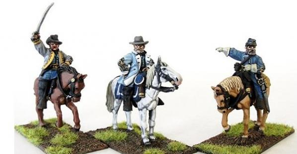 28mm American Civil War: (Confederate) Generals (Mounted)