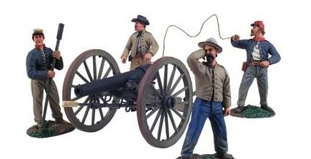 28mm American Civil War: (Confederate) Artillery (Firing)