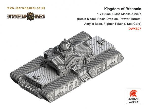 Dystopian Wars: (Kingdom Of Britannia) Brunel Class Mobile Airfield (1)