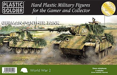15mm WWII (German): Easy Assembly Panther Tank