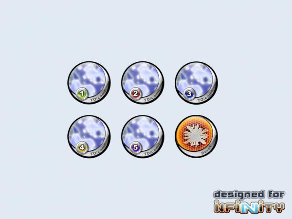 Infinity Tokens: TOCamo ''Blue'' (6)