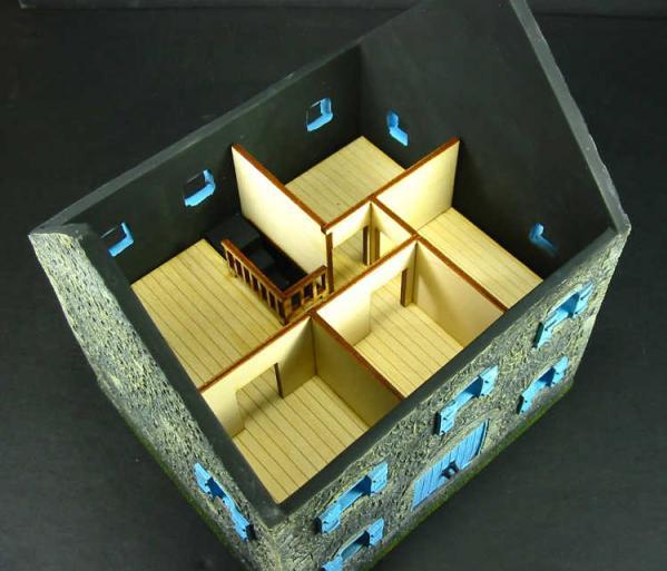 28mm Terrain: Stone Farmhouse Interior Kit