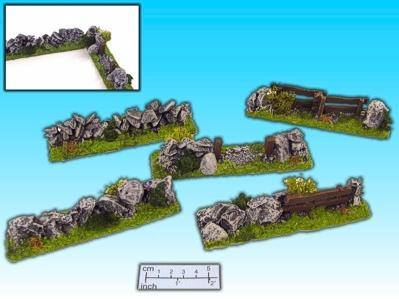 25 - 30mm Finished Terrain: Hedgegrow Set