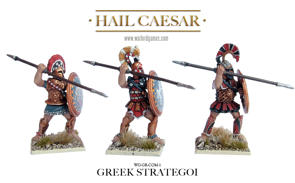 28mm Ancients - Ancient Greeks: Greek Strategoi (Command) (3)