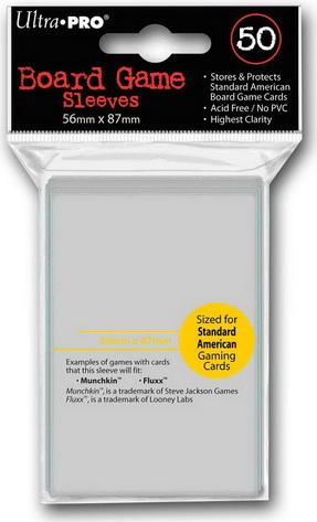 Ultra-Pro Standard American Board Game Sleeves 56x87mm