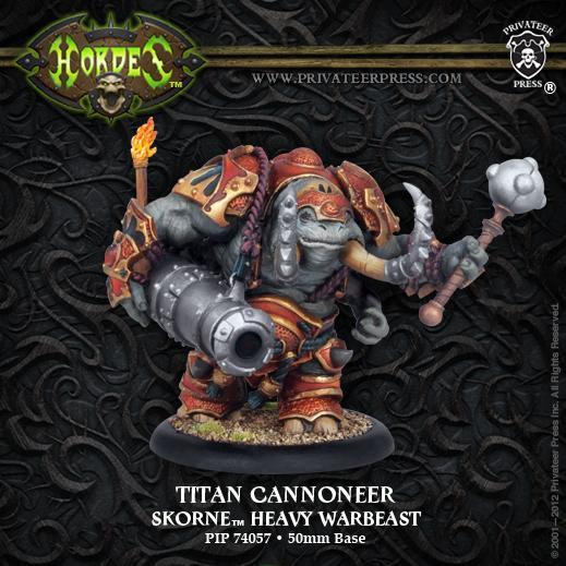 (Skorne) Cannoneer/Gladiator/Sentry Titan Heavy Warbeast (plastic)