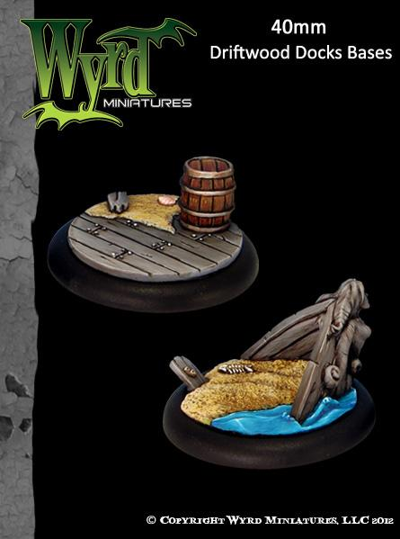 (Bases) Driftwood Docks 40mm