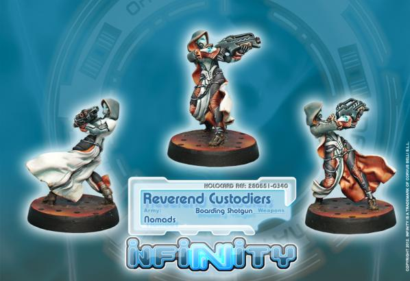 Infinity (#340) Nomads: Reverend Custodiers (Hacker, Boarding Shotgun) (1)