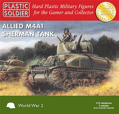 20mm WWII (American): Easy Assembly Sherman M4A1 75mm Tank