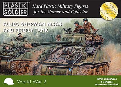 15mm WWII (American):  Easy Assembly Sherman M4A4 and Firefly Tank