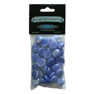 Dragon Shields Counters: Marble Blue