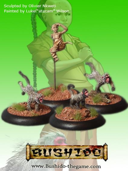Bushido Miniatures: (Temple Of Ro-Kan) Koji & Koji's Pack