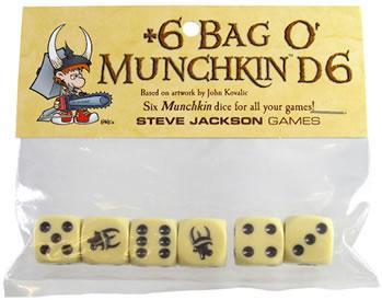 Munchkin: +6 Bag o' Munchkin d6