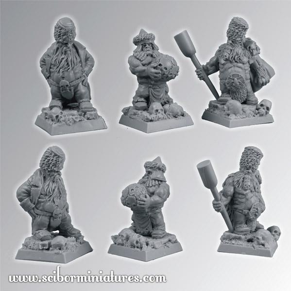 28mm Moscals Army: Moscals Cannon Crew Set (3)