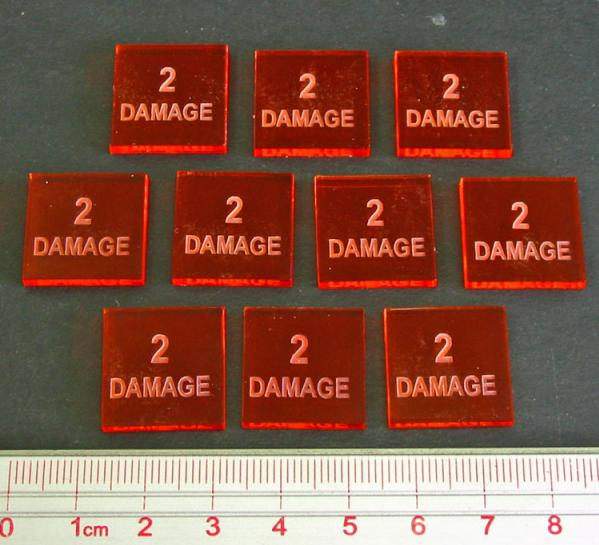 2 Damage Tokens (Set of 10)