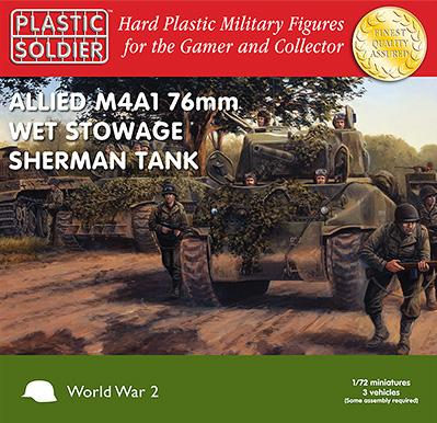 20mm WWII (American): Easy Assembly Sherman M4A1 76mm Wet Tank