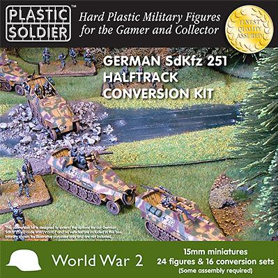 15mm WWII (German): Easy Assembly Sdkfz 251/D Conversion kit