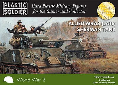 15mm WWII (American/British): Easy Assembly Sherman M4A3 (Late) Tank