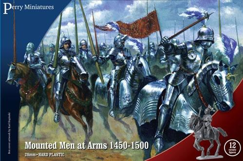 28mm Wars Of The Roses: Mounted Men-At-Arms 1450-1500