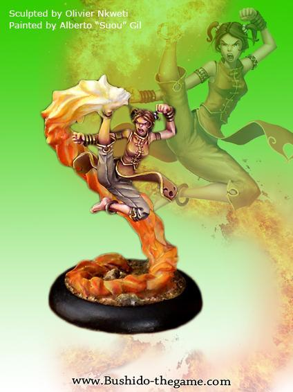 Bushido Miniatures: (Temple Of Ro-Kan) Hotaru, The Fire Fly