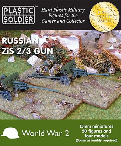 15mm WWII (Soviet): Zis 2 and 3 anti tank/field gun