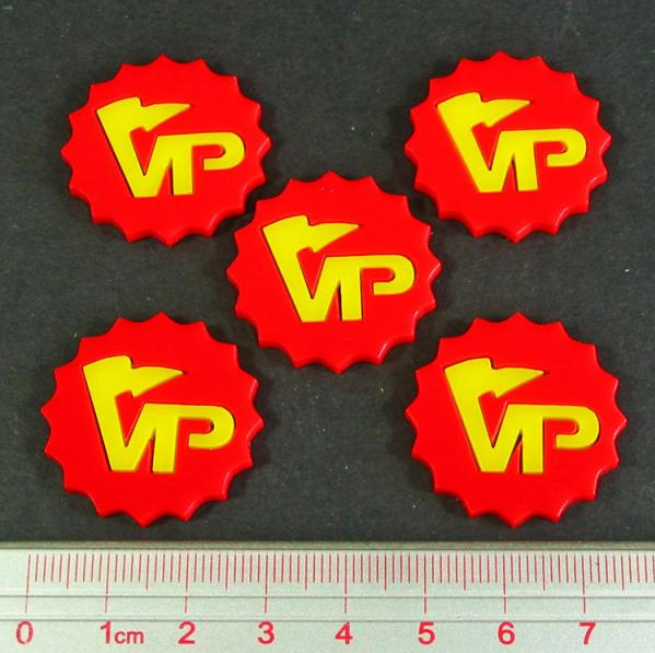 Tokens & Markers:Deluxe Victory Point Tokens (5) (Red)