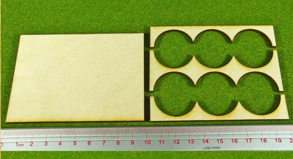 Hordes Tray Set: Rank Tray, 3x2, 30mm circle bases