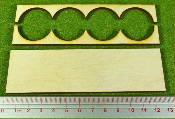 Hordes Tray Set: Rank Tray, 4x1, 30mm circle bases
