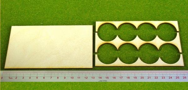 Hordes Tray Set: Rank Tray, 4x2, 30mm circle bases