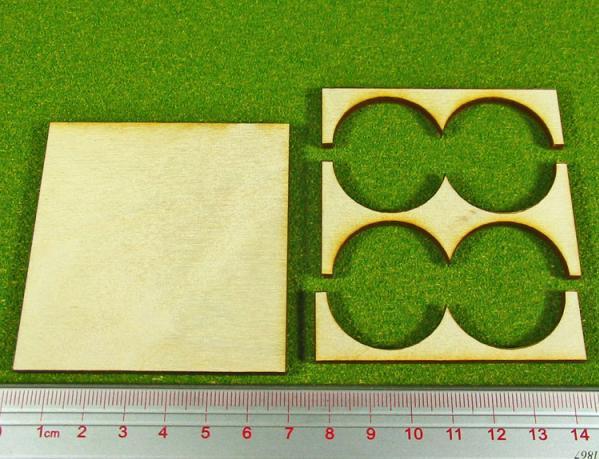 Hordes Tray Set: Rank Tray, 5x2, 30mm circle bases