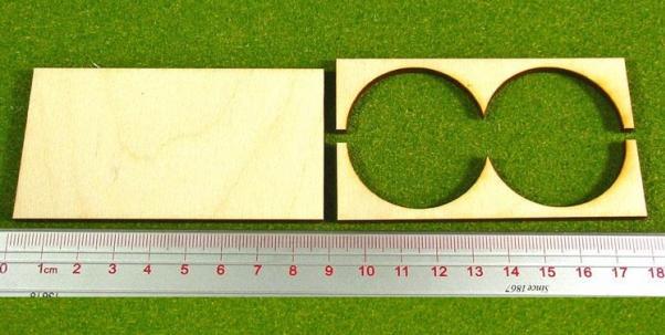 Hordes Tray Set: Rank Tray, 2x1, 40mm circle bases