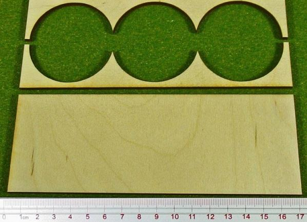 Hordes Tray Set: Rank Tray, 1x3, 50mm circle bases