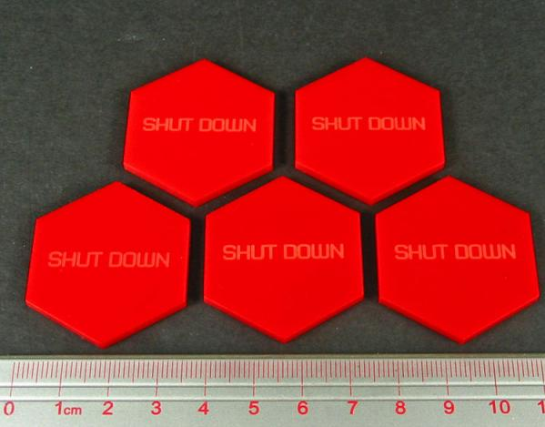 Battletech  - Tokens & Markers: Shutdown Tokens