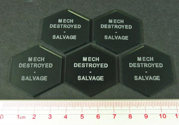 Battletech  - Tokens & Markers: Destroyed Salvage Tokens